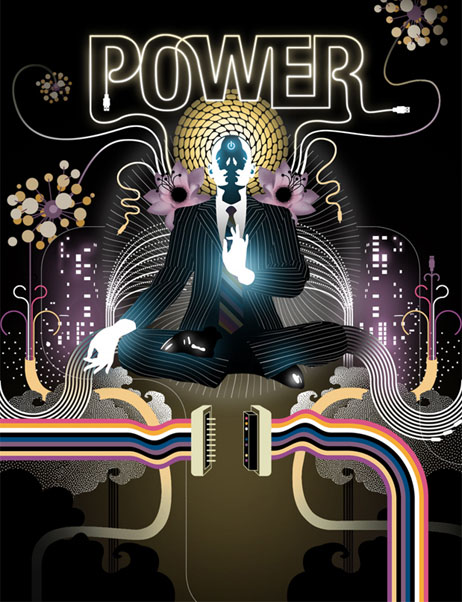 Power: the state of being in peace within, full of unconditional love, creatively enriching the flow of energy.